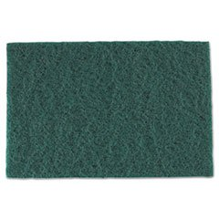 Medium-Duty Scouring Pad In Green - 10/Pack