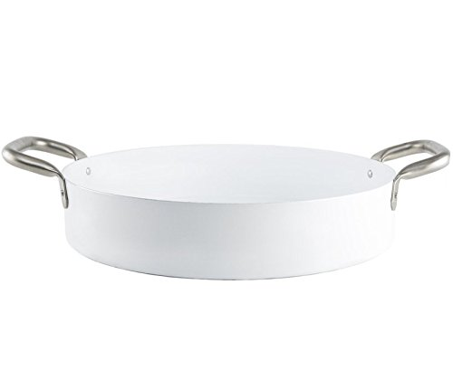 KnIndustrie Eat Big - Low Casserole with handles Ø14.2 White
