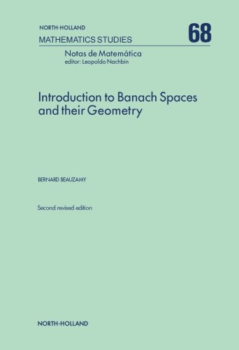 Introduction to Banach Spaces and their Geometry: Volume 68 (Mathematics Studies)