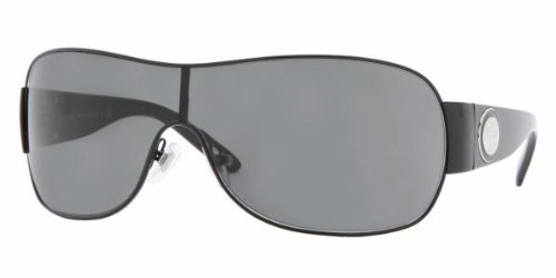 Versace 2101 Black Gray Sunglasses