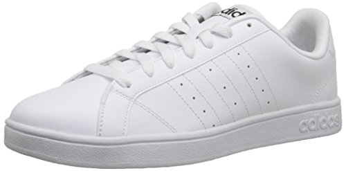 Adidas NEO Men's Advantage Clean VL Fashion Sneaker, White/White/Black, 11 M US