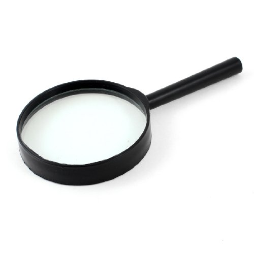 uxcell Black Straight-Shank 3X Magnifying Glass Within 75mm - 1