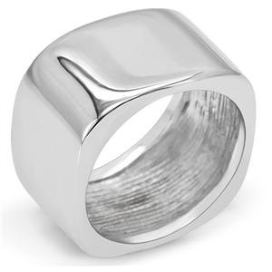 RIGHT HAND RING - Stainless Steel Smooth Surface Square Frame Ring