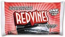 Red Vines Black Licorice Twists 1 Pound Bag (1) 16 OZ
