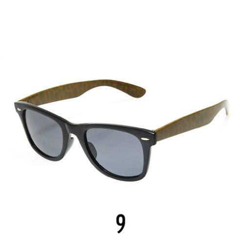 Sonnenbrille Nerdbrille retro Wayfarer Unisex Herren/Damen Sonnenbrille, UV-Schutz 400, Schildpatt Herren Sonnenbrille Spicoli 4 Shades, Tortoise Aussen, One size (9)