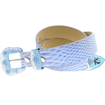 Small WESTERN Blue SNAKE SKIN Belt and Buckle - Buy Small WESTERN Blue SNAKE SKIN Belt and Buckle - Purchase Small WESTERN Blue SNAKE SKIN Belt and Buckle (Body Candy, Body Candy Belts, Body Candy Womens Belts, Apparel, Departments, Accessories, Women's Accessories, Belts, Womens Belts)