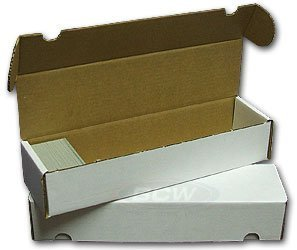 BCW 800 Count- Corrugated Cardboard Storage Box - Baseball, Football, Basketball, Hockey, Nascar, Sportscards, Gaming & Trading Cards Collecting Supplies (5 Boxes)
