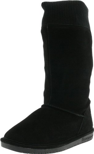 Bearpaw Women's Gayle Black Fur Trimmed Boot 1217W 7 UK