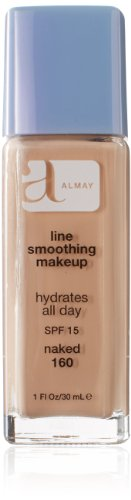 Almay Line Smoothing Makeup with SPF 15, Naked 160, 1-Ounce Bottles (Pack of 2)