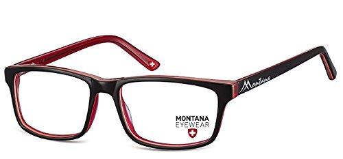 Montana -  Montatura  - Donna rosso Kunststoff Matt Rot + transparent rot