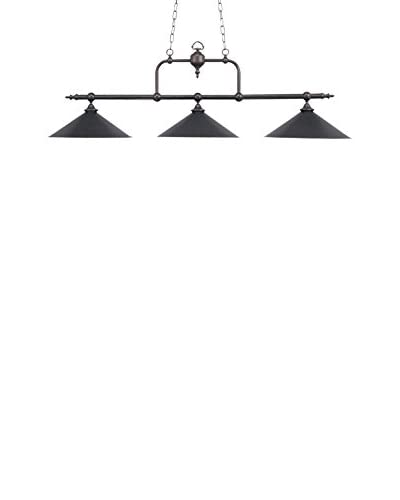 Artistic Lighting Designer Classics Billiard/Island Light, Wood Patina