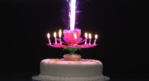 Wallpaper Cake Candles Light HD Picture Image
