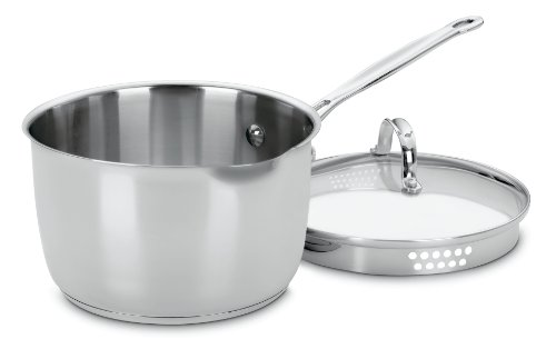 Cuisinart 7193-20P Chef's Classic Stainless 3-Quart Cook and Pour Saucepan with Cover (Chef Cuisinart compare prices)