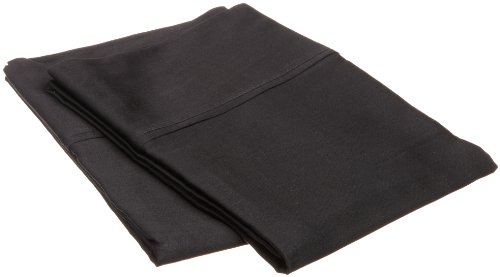 Impressions Genuine Egyptian Cotton 300 Thread Count King Pillowcase Pair Solid, Black