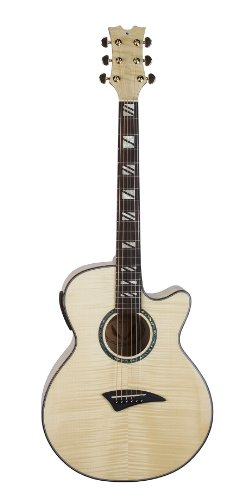 Dean Performer Acoustic Electric Guitar Flame Maple Gloss Natural