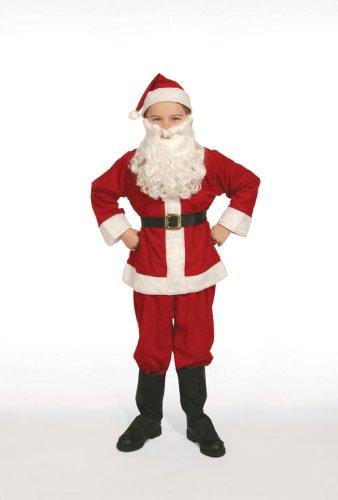 Complete Santa Claus Suit Set Child Costume Size 8-10 Medium - 31DqL0VV9IL - Complete Santa Claus Suit Set Child Costume Size 8-10 Medium by Halco