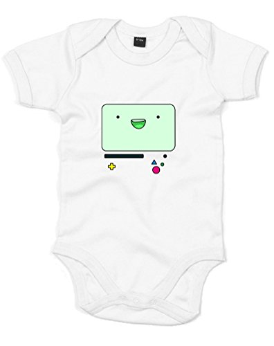 Beemo Face, Printed Baby Grow - White/Transfer 6-12 Months front-1002084