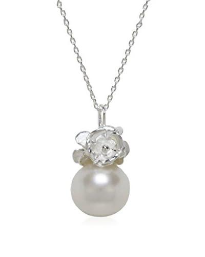 Pearl & Queenie Conjunto de cadena y colgante plata de ley 925 milésimas
