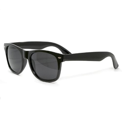 Wayfarer Sunglasses, Black, Mens, Womens, Unisex Black Lens, 100% UV400 Protection, CE marked