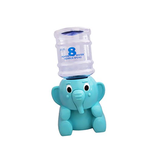 Elephant Pressure Regulator Water Dispenser Mini Bottled Water Cooler Multicolor - Blue, 17x21cm (Mini Water Cooler Dispenser compare prices)