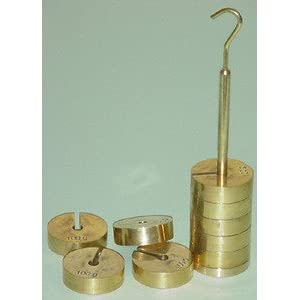 SEOH Weight Weights Slotted Set Brass with 100gm Hanger