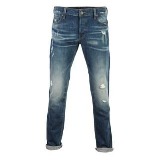 G Star 3301 Low Tapered Mens Jeans Red List Med 36 L34