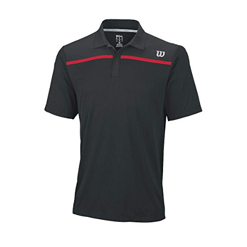 Wilson M Knit Polo, Nero, 2XL