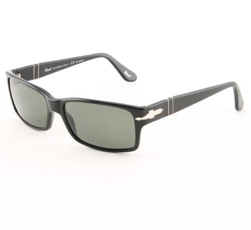 1809a4cbe30eb Sunglasses Persol PO2803S 95 58 BLACK CRYSTAL GREEN POLARIZED ...
