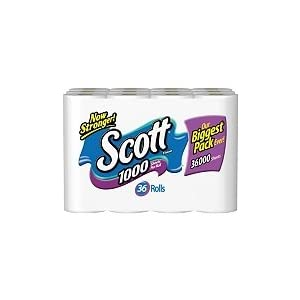 Scott 1000 Bathroom Tissue, 36-Pack