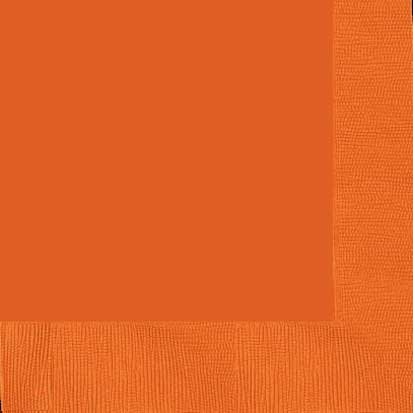 orange peel beverage napkins hi count