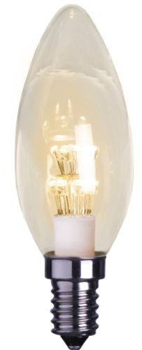 Best Season 337-11 Decoline Ersatzglühbirne LED, E14, 2100 K, klar, Kerzenform, 230V