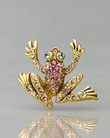 Jay Strongwater Pink Frog Tack Pin