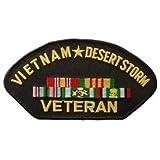 US Military Vietnam War Iron On Patch - Vietnam Desert Storm Veteran Logo