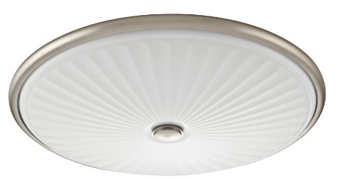 Lithonia Lighting Fmdcgl 16 20830 Bn M4 17-Inch 3000K Led Flush Mount With Patterned Acrylic Diffuser, Brushed Nickel