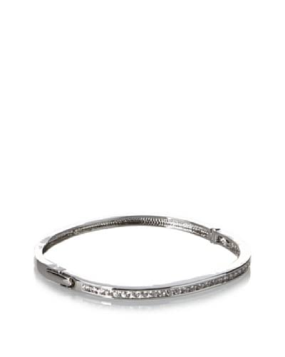 CZ by Kenneth Jay Lane Channel Set Hinge Bangle