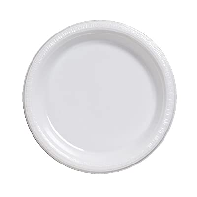 Creative Converting Touch of Color 20 Count Plastic Banquet Plates, White by Creative Converting