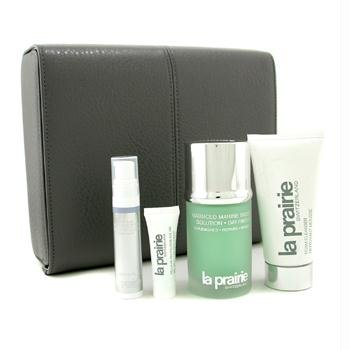 La Prairie Men's Connection Set: Biology Solution 50ml/1.7oz + Foam Cleanser + Serum + Eye Gel + Box - 4pcs+1box