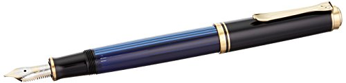 PELIKAN Souveran M400 Black/Blue Fountain Pen, Extra Fine, Black/Green (994921) (Fountain Pen Pelikan Extra Fine compare prices)