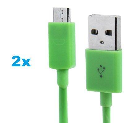 2 x Samsung Galaxy S3 Datenkabel / Ladekabel / S 3 / S3 Mini - Micro USB / Premium Kabel in grün - 1 Meter - von THESMARTGUARD