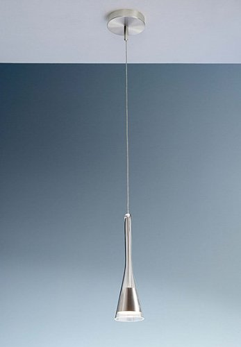 Holtkoetter C8110 G5770 Sn Halogen Low-Voltage Pendant With Canopy-Round 1-Light, Satin Nickel With The Note Glass
