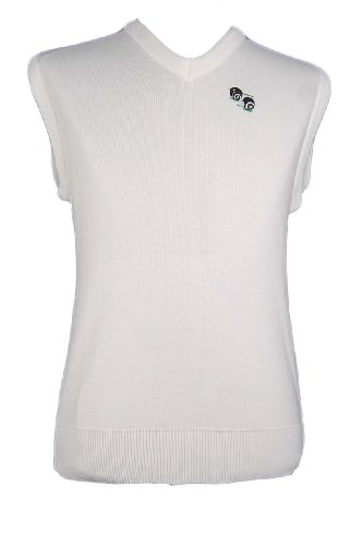 BOWLING LAWN BOWLS SLEEVELESS JUMPER TANK TOP WHITE