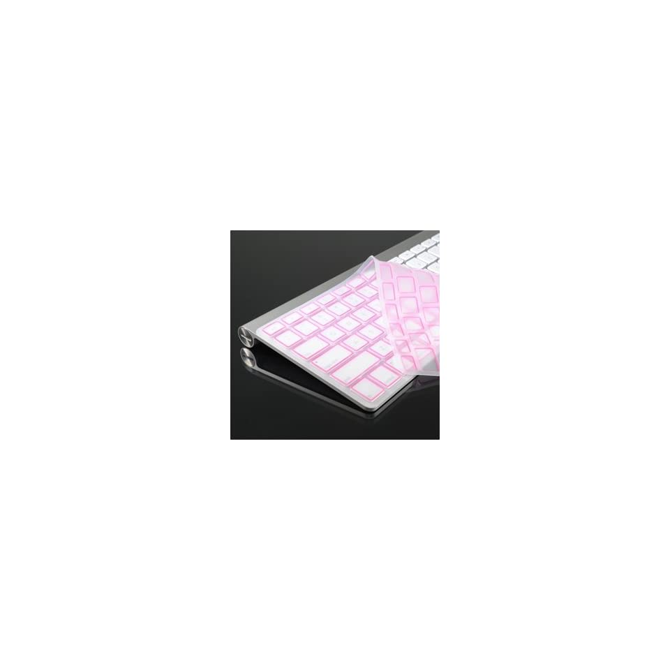 ® PINK Silicone Keyboard Cover Skin for All Apple Wireless Keyboard