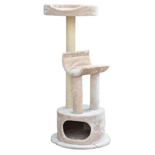 CRLamp PP1574 Modern Fleece Collection - BOSS - Multi-Level Plush Fleece w/ Massive Look Out Perch, Plush Padded Lounge and Condo Hideout for Cat