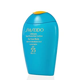 Shiseido Ultimate Sun Protection Lotion SPF 55 For Face/Body 100ml/ 3.3 fl.oz