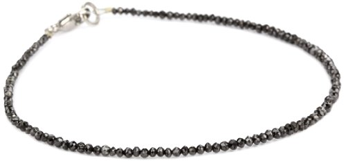 Sethi Couture Black Diamond Faceted 2mm Bead Bracelet