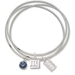Officially licensed NFL Super Bowl 46 New York Giants Triple Bangle Bracelet - Size: 7