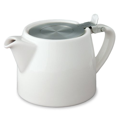 Forlife Stump 18-Ounce Teapot With Sls Lid And Infuser, White