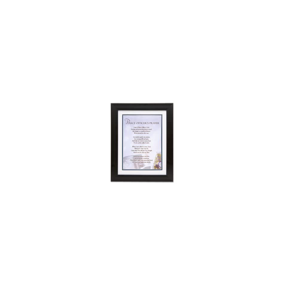 Police Officers Framed Prayer Print   8 W X 10 H