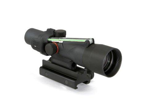 Trijicon Acog 3X30 Scope, Dual Illuminated Crosshair (.308 Winchester Ballistic Reticle), Green