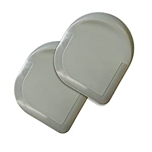 Happy Sales HSPS-G2 Nylon Pan Scraper (Set of 2), Gray